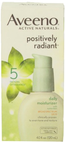 Aveeno, Facial Moisturizers Positively Radiant Daily Moisturizer, SPF 15, 4 fl oz (Positively Radiant Moisturizer compare prices)