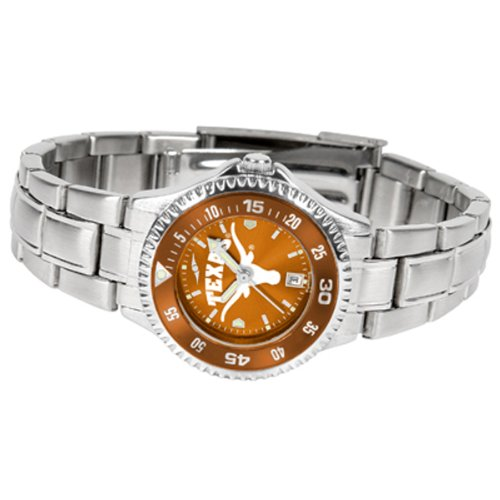 Texas Longhorns Competitor Steel AnoChrome Women's Watch - Color Bezel - Ladies Executive Anochrome Watch