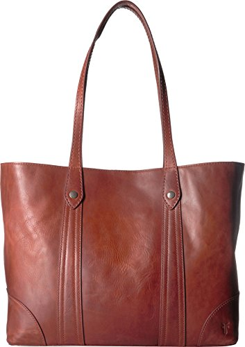 FRYE Melissa Shopper Tote Leather Handbag, red clay