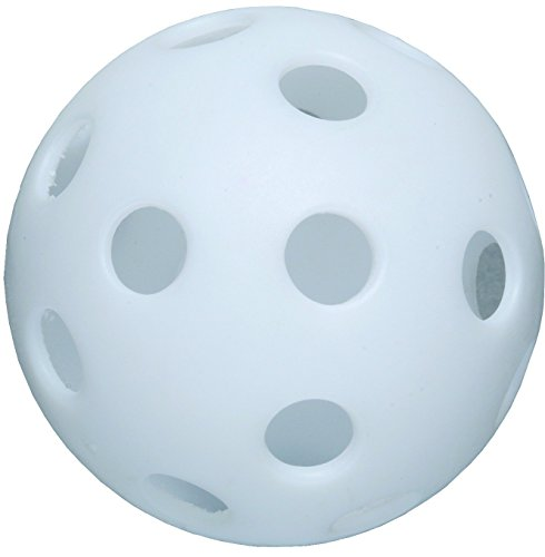 White 12-inch Perforated Poly Ball by CSI Cannon Sports