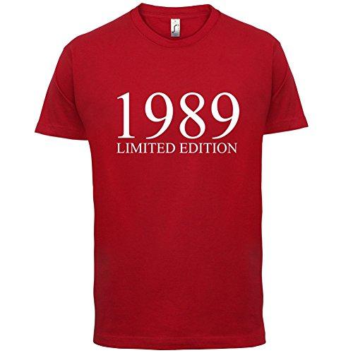 1989 Limierte Auflage / Limited Edition - 28. Geburtstag - Herren T-Shirt - Rot - M
