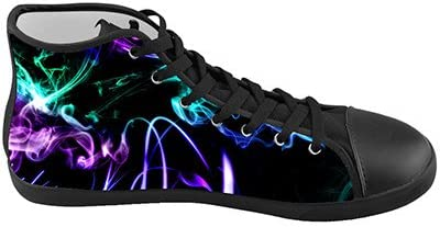 Daniel Turnai Fan Customized Color Light Abstract Smoke Top Canvas Kids Shoes