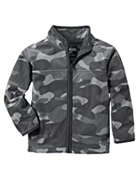 OshKosh B'gosh Boys' Long Sleeve Grey Camo Fleece Jacket