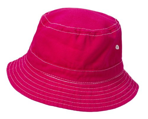 City Thread Little Boys' and Girls' Solid Wharf Hat Bucket Hat For Sun Protection SPF Beach Summer - Hot Pink - XL(4-6)