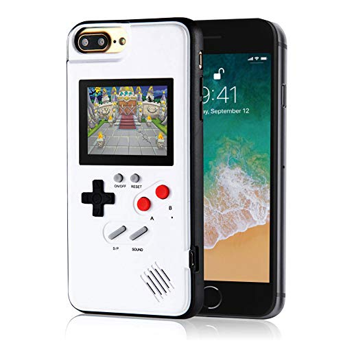 Handheld Retro Game Console Phone Case, Compatible with iPhone (White, 6/6s/7/8 Plus) (Case Game Controller Iphone)