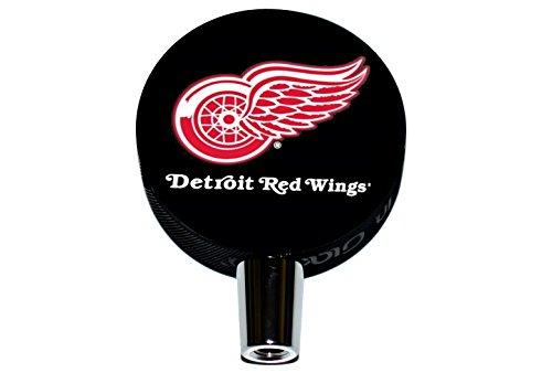 (Detroit Red Wings Basic Logo Hockey NHL Puck Beer Tap Handle)