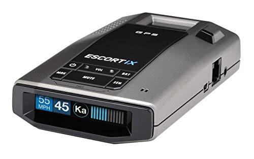 ESCORT IX Laser Radar Detector - Auto Learn Protection, Extreme Long Range, Bluetooth, Voice Alerts, OLED Display, Escort Live, Black