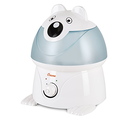 Crane USA Filter-Free Cool Mist Humidifiers for Kids, Polar Bear