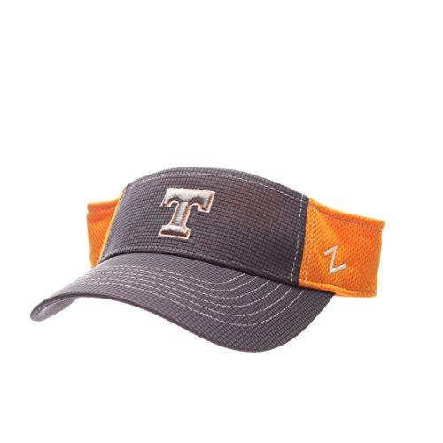 Zephyr NCAA Tennessee Volunteers Adult Men's Grid Visor, Adjustable Size, Gray/Team (Zephyr Visor)