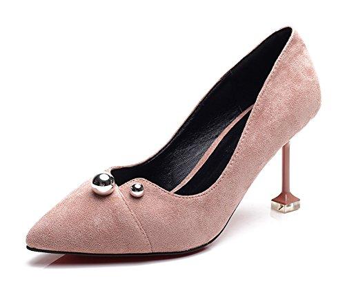 Escarpins Femme Basses Pointues Rose Classique Perles Aisun w0UZaxXqw