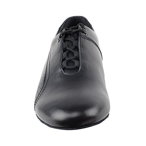 50 Shades Of Mens Flachen Tanz Kleid Schuhe Sammlung (Größe 6.5-13): Komfort Ballsaal, Standard, glatt, Latein, Salsa, Kunst von Party Party 101bbx schwarzes Leder
