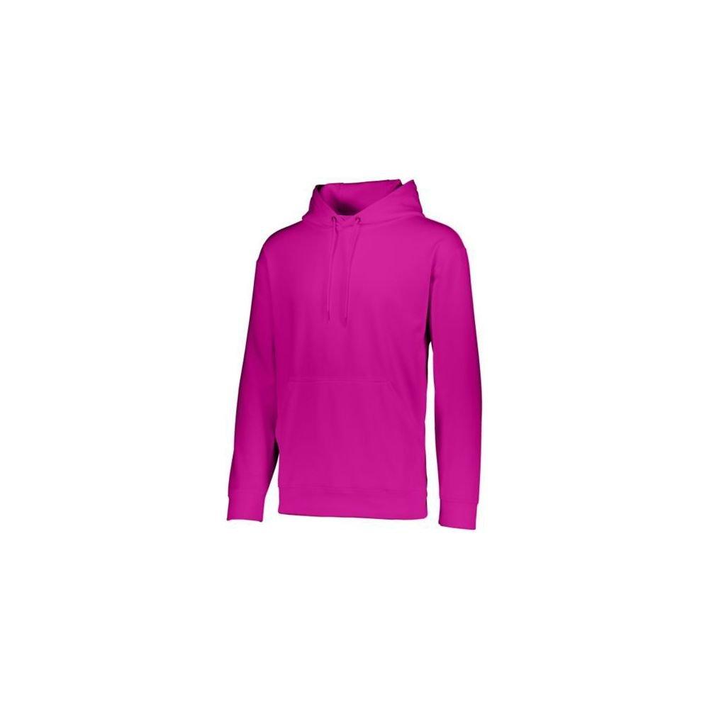 Augusta Sports Wicking Fleece Hooded Sweatshirt Small Power Pink