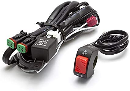 Moto Foco Luz Antiniebla Arnés Cableado Kit con Interruptor de ...