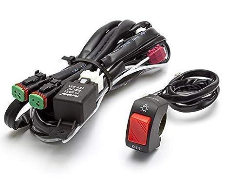 Schema Elettrico Per Fendinebbia : Moto faretto fendinebbia cablaggio kit con interruttore on off per