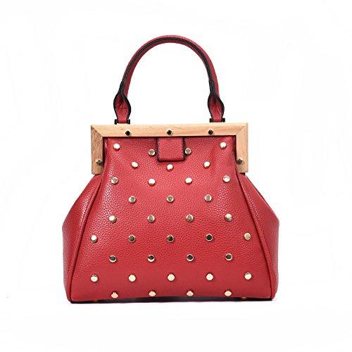DHFUD Bolso De Hombro Del Bolso De La Mujer Bolso De Mensajero Del Diamante Simple Y Elegante Red