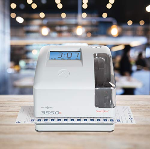 Pyramid 3550ss SmartSite Time Clock and Document Stamp - Made in USA by Pyramid Time Systems (Image #6)