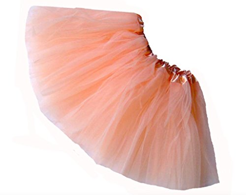 Southern Wrag Company LITTLE GIRLS TUTU - SHORT - BABY to 6X (BABY: 8In Long, PEACH) (Princess Peach Baby Costume)