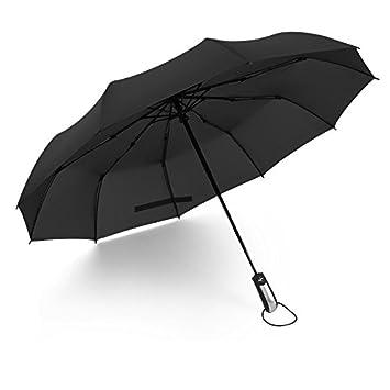 10 hueso mayor paraguas a prueba de viento Triples completamente automático hombres negocios paraguas doble paraguas