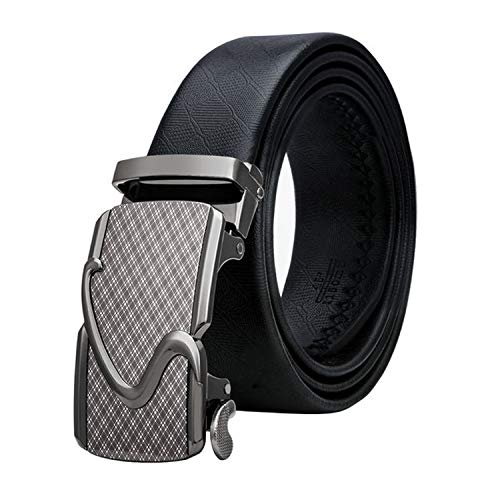 2019 Fashion Automatic Buckle Leather luxury Belts Business Male Alloy buckle Belts for Men's,BK-0045,140cm