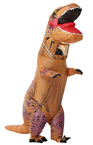 SASALO T-Rex Dinosaur Inflatable Costume Halloween Cosplay Blow up Suit Kids/Adult by SASALO
