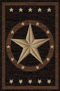 Cheap Dean Western Star Lodge Cabin Ranch Area Rug 5'3″ x 7'3″ (5×8)