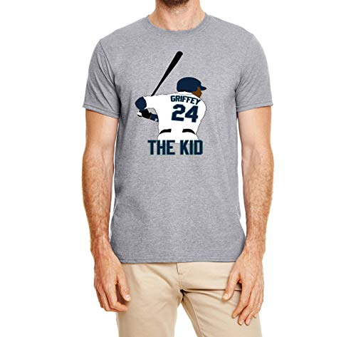 Tobin Clothing Gray Seattle Griffey The Kid T-Shirt Adult XL (Griffey Big Kids)