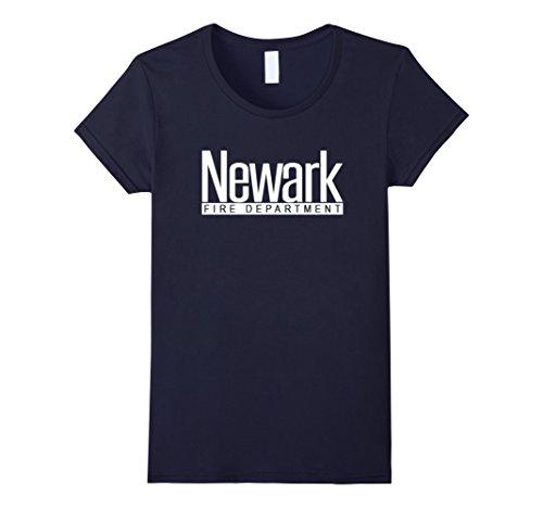 Women's Newark Fire Department T-shirt with Big Logo on B...