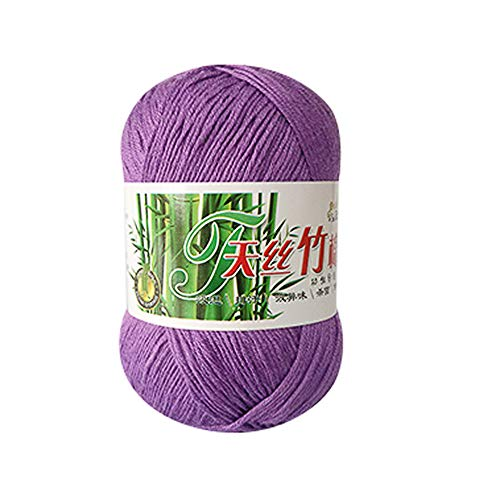 Clearance Sale! Yarns for Knitting Crochet Craft,KFSO Hand Knitting Knicker Bamboo Cotton Yarn Crochet Soft Scarf Sweater Hat Yarn Knitwear Wool (I)