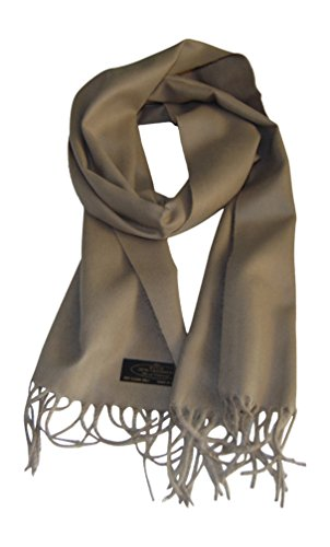 Annys Super Soft 100% Cashmere Scarf 12 X 72 with Gift Bag (Camel)