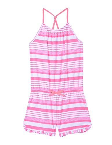 Nautica Girls' Toddler' Fashion Romper, Bubble Pink Terry, 4T ()