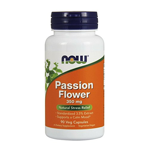 NOW Passion Flower 350 mg,90 Veg Capsules