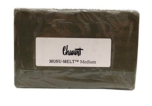 Chavant MONUMELT - MEDIUM - 2 lb Brick - Oil Based - Meltable Professional Sculpting Modeling Clay - Sulfur Free - Non-Toxic - Non Drying, Reusable