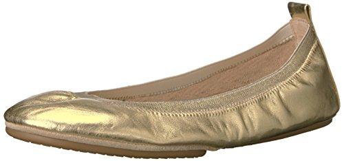 Yosi Samra Samara Metallic Flat 2.0 W, Bailarinas con Punta Cerrada Para Mujer Gold (Gold)