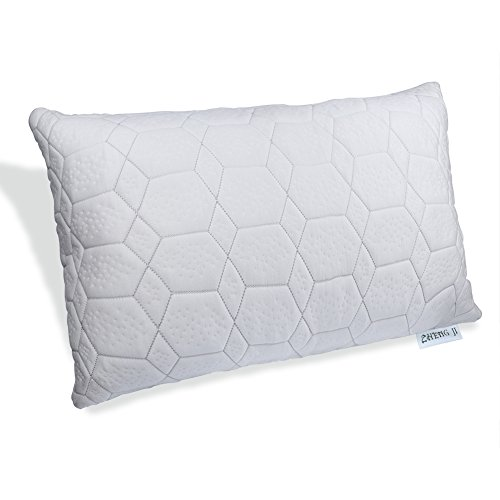 Zhengji Shredded Memory Foam Bed Pillow with Adjustable loft and Washable Cover (Standard)
