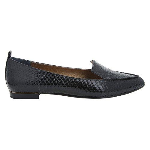 Snake Oxfords Pointed Toe Black Womens Nina Quay2 Leather Sgx47Xq0