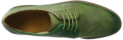 Melvin&Hamilton Amelie 9 - Zapatos Derby Mujer Grün (Venice Perfo/ Venice Verde Chiaro/E-Green/Shade Green LS-NAT.)