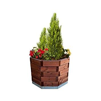 estrucmader Achteckiger Blumentopf für Bäume und Palmen, Kiefer ...