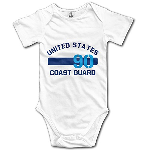 [Short Sleeve Baby Costume United States Coast Guard Unisex Kid's] (Coast Guard Costumes For Kids)