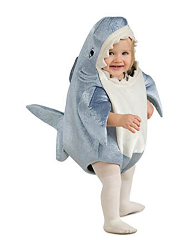 Rubie's Costume Co Unisex-Child Deluxe Shark Romper Costume, Gray, Toddler -