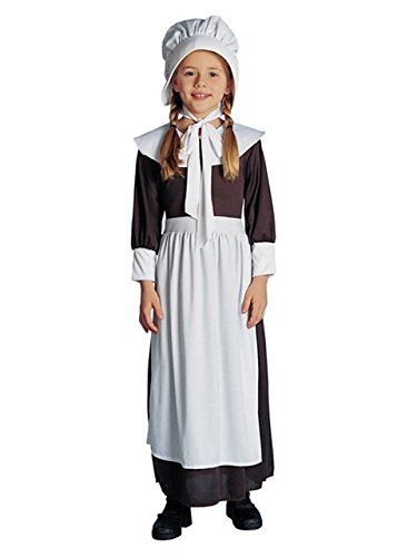 Pilgrim Dress Costumes (Child Colonial / Pilgrim Girl Costume, As Shown, Large)