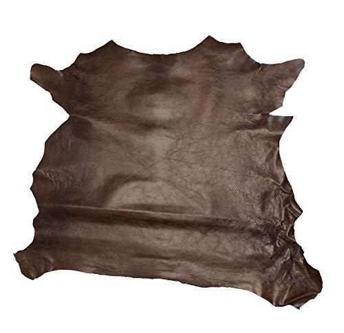 Deerskin Leather Hide - Goat and Sheep Leather Skins (Rust Grenada)