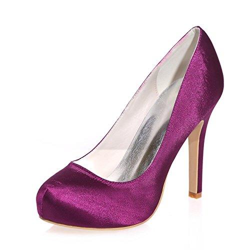 Hauts 6915 Fermeture SoiréE Et Plus 03a YC purple Pour à Talons SoiréE En Femmes Couleurs L Soie RY65wvq