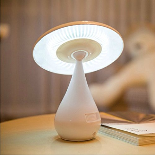 Graces Dawn® Mushroom Shaped Ionizer Air Purifier LED Desk Lamp / Rechargeable Energy Saving Book Light with Touch Adjustable Brightness / Health Negative Ion Anti-radiation