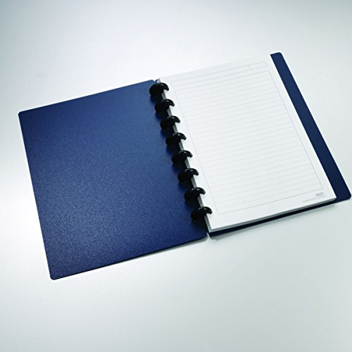 """Staples Arc Customizable Durable Poly Notebook System, Navy, 8.5"""" x 5.5"""""""