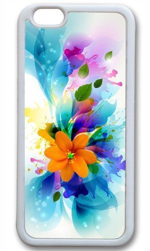 Abstract colorful flower art Thanksgiving Halloween Masterpiece Limited Design TPU White Case for iphone 6 by Cases & Mousepads