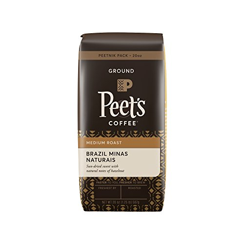 Peet's Coffee Peetnik Deck package Brazil Minas Naturais, Medium Roast, Ground 20oz. Bag