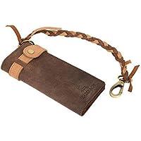 Leaderachi Hunter Leather Men's Long Wallet (Burlington-Muskat)
