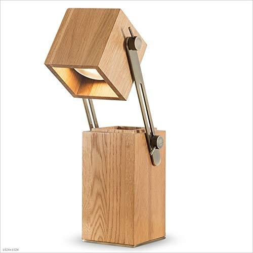 Lámparas De Mesa Modernas Lámpara de escritorio LED de madera ...