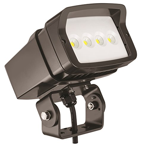 Lithonia Lighting OFL1 LED P1 50K MVOLT YK DDBXD M4 5000K Color Temperature Size 1 Floodlight with P1 Performance Package - Yoke Mounted