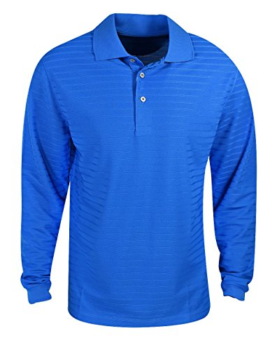 PGA Tour Golf- Long Sleeve Solid Airflux Polo
